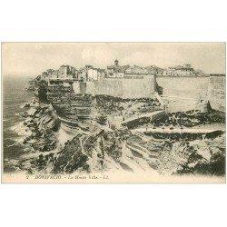 carte postale ancienne 20 CORSE. Bonifacio. La Haute Ville