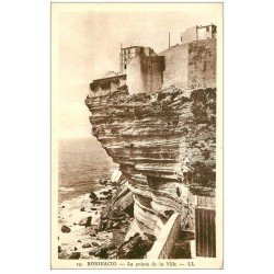 carte postale ancienne 20 CORSE. Bonifacio. La Pointe de la Ville
