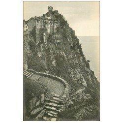 carte postale ancienne 20 CORSE. Cap-Corse. Nonza Rocher et Tour Gênoise. Carte Photo