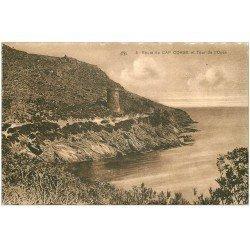 carte postale ancienne 20 CORSE. Cap-Corse. Tour de l'Osse Route du Cap
