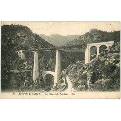 carte postale ancienne 20 CORSE. Corte. Le Viaduc de Vecchio 1927