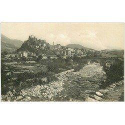 carte postale ancienne 20 CORSE. Corte. Ville et Rivière. Carte de Luxe LL.