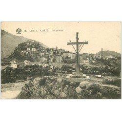 carte postale ancienne 20 CORSE. Corte. Vue générale 65 vers 1924
