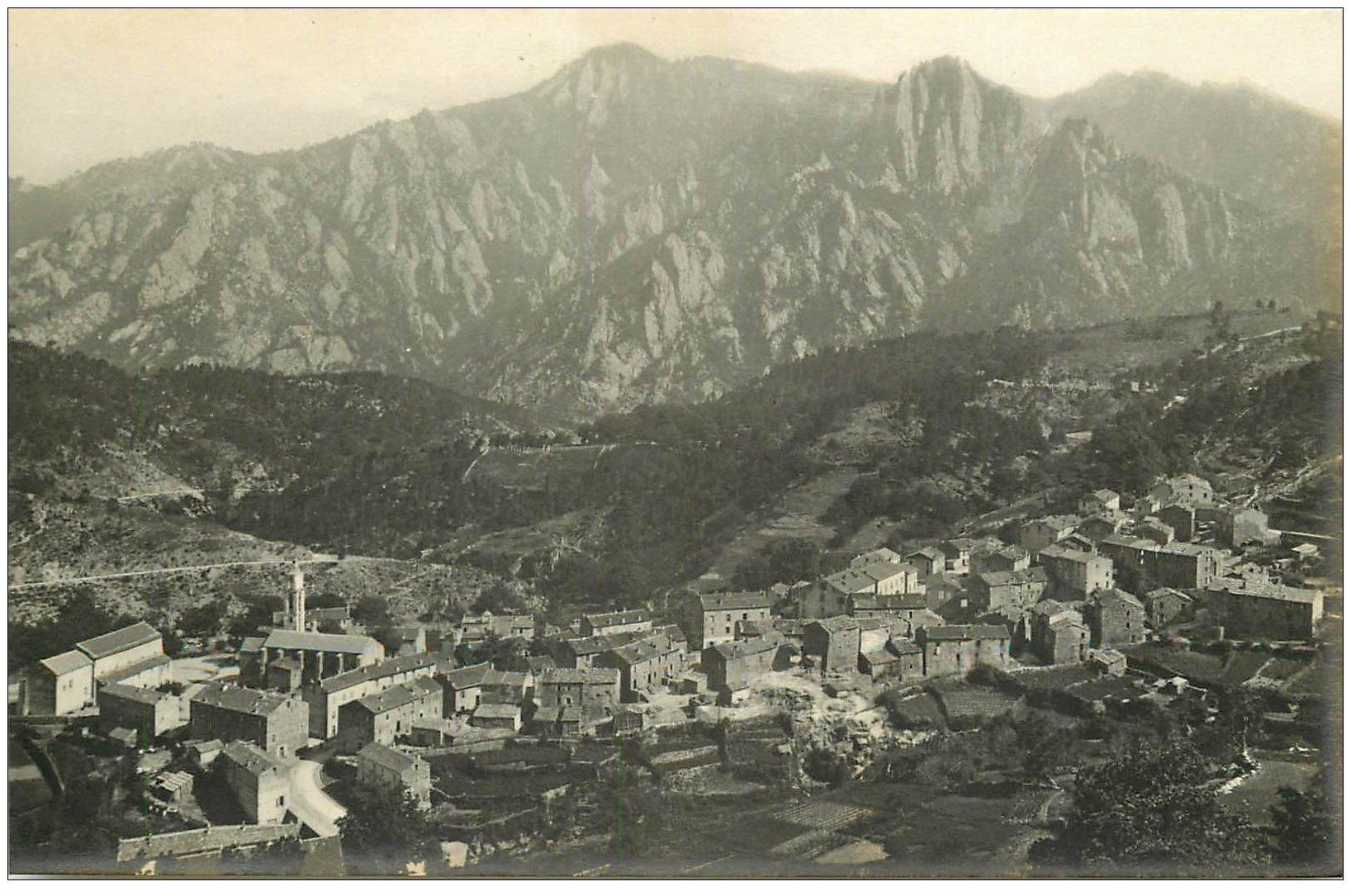 carte postale ancienne 20 CORSE. Ghisoni. Panorama de Kyrie Eleïson. Carte Photo