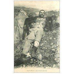 carte postale ancienne 20 CORSE. Vers Corte. Bandit tué par la Gendarmerie 1907