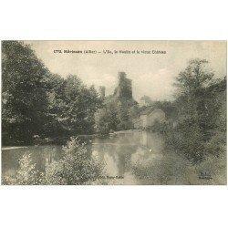 carte postale ancienne 03 HERISSON. Ile, Moulin et Vieux Château 1927