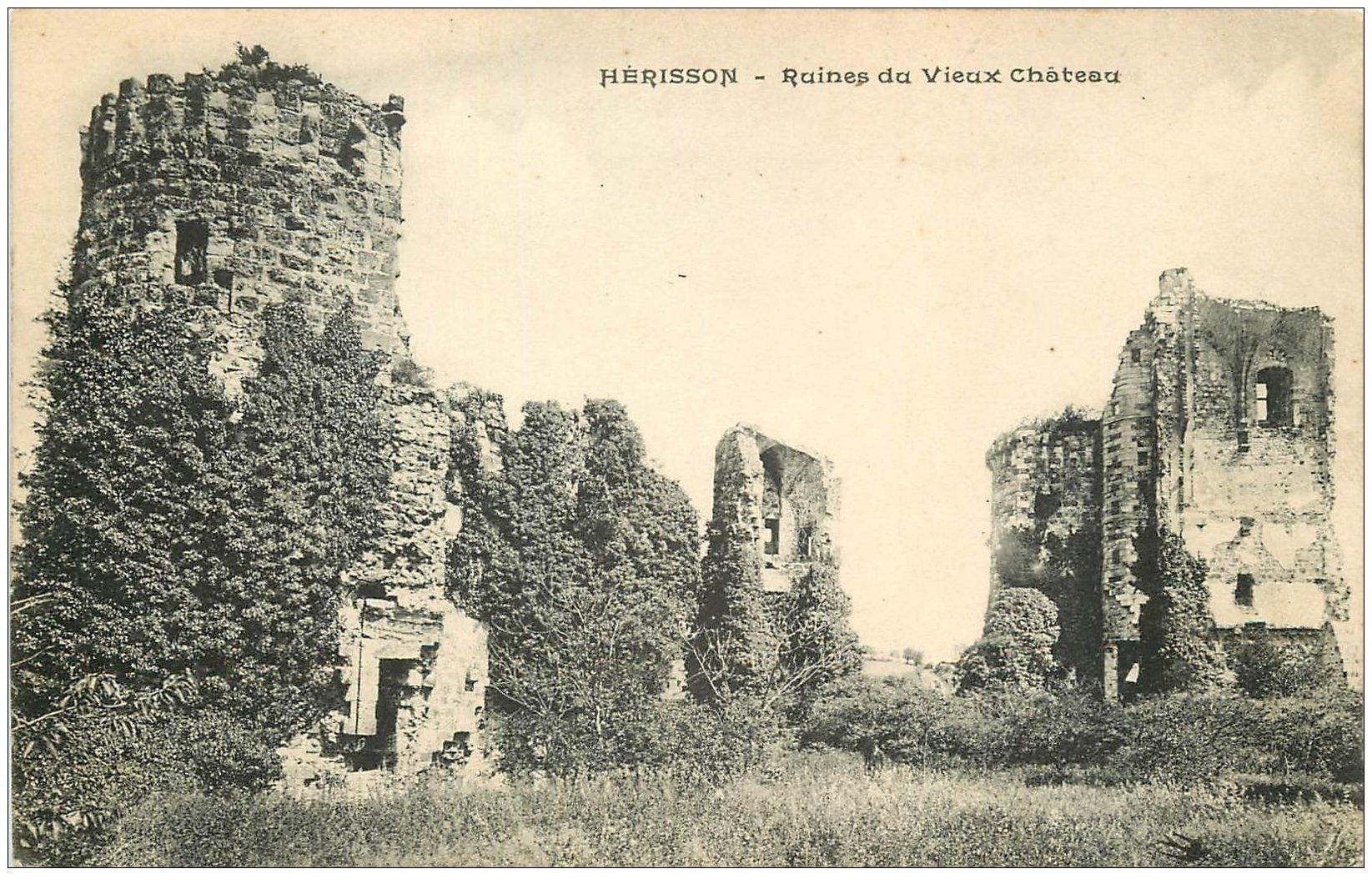 carte postale ancienne 03 HERISSON. Ruines du Vieux Château