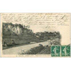 carte postale ancienne 21 AIGNAY-LE-DUC. Emplacement du Vieux Château 1908