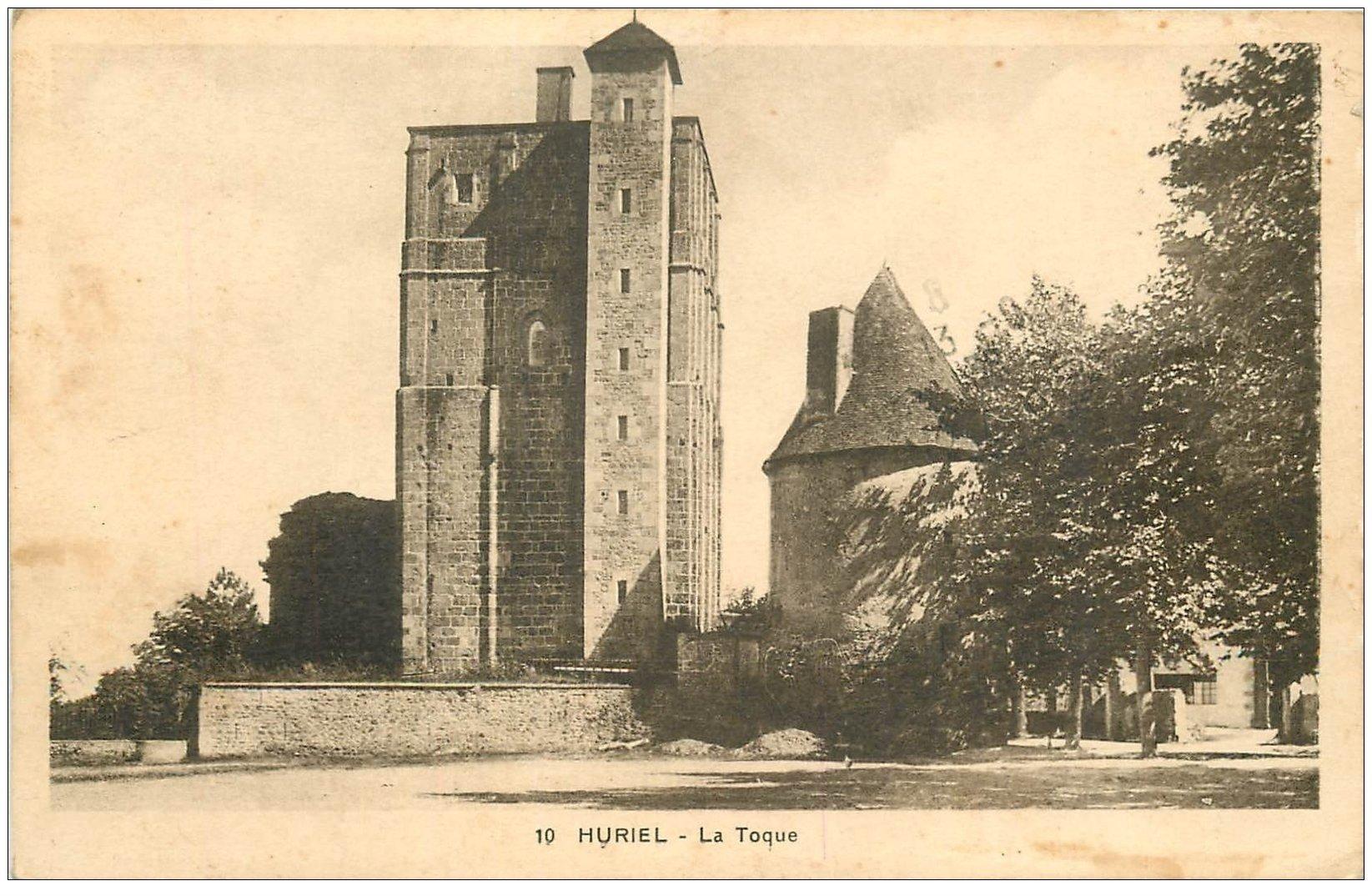 carte postale ancienne 03 HURIEL. La Toque 1938