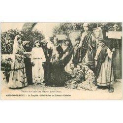carte postale ancienne 21 ALISE-SAINTE-REINE. La Tragédie au Tribunal d'Olibrius