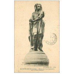 carte postale ancienne 21 ALISE-SAINTE-REINE. Statue de Vercingétorix Mont Auxois 1923
