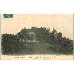 carte postale ancienne 21 ASNIERES. Château de Rochefort 1909