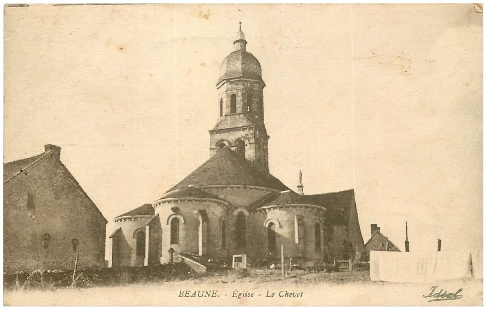 carte postale ancienne 21 BEAUNE. Eglise le Chevet