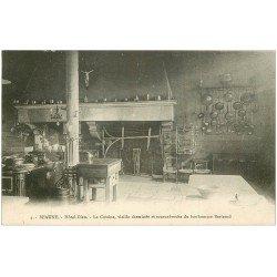 carte postale ancienne 21 BEAUNE. Hôtel-Dieu. La Cuisine avec Cheminée
