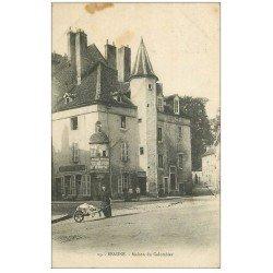 carte postale ancienne 21 BEAUNE. Maison du Colombier avec Lavandière 1923