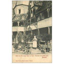 carte postale ancienne 21 BEAUNE. Puits Cour d'Honneur Hôtel-Dieu