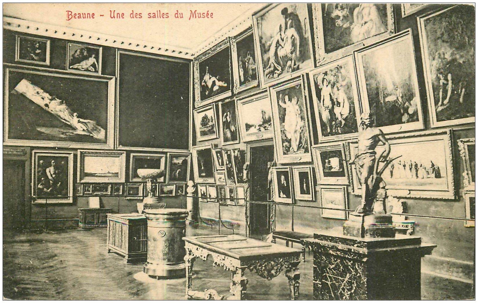 carte postale ancienne 21 BEAUNE. Salle du Musée. Edition Ronco