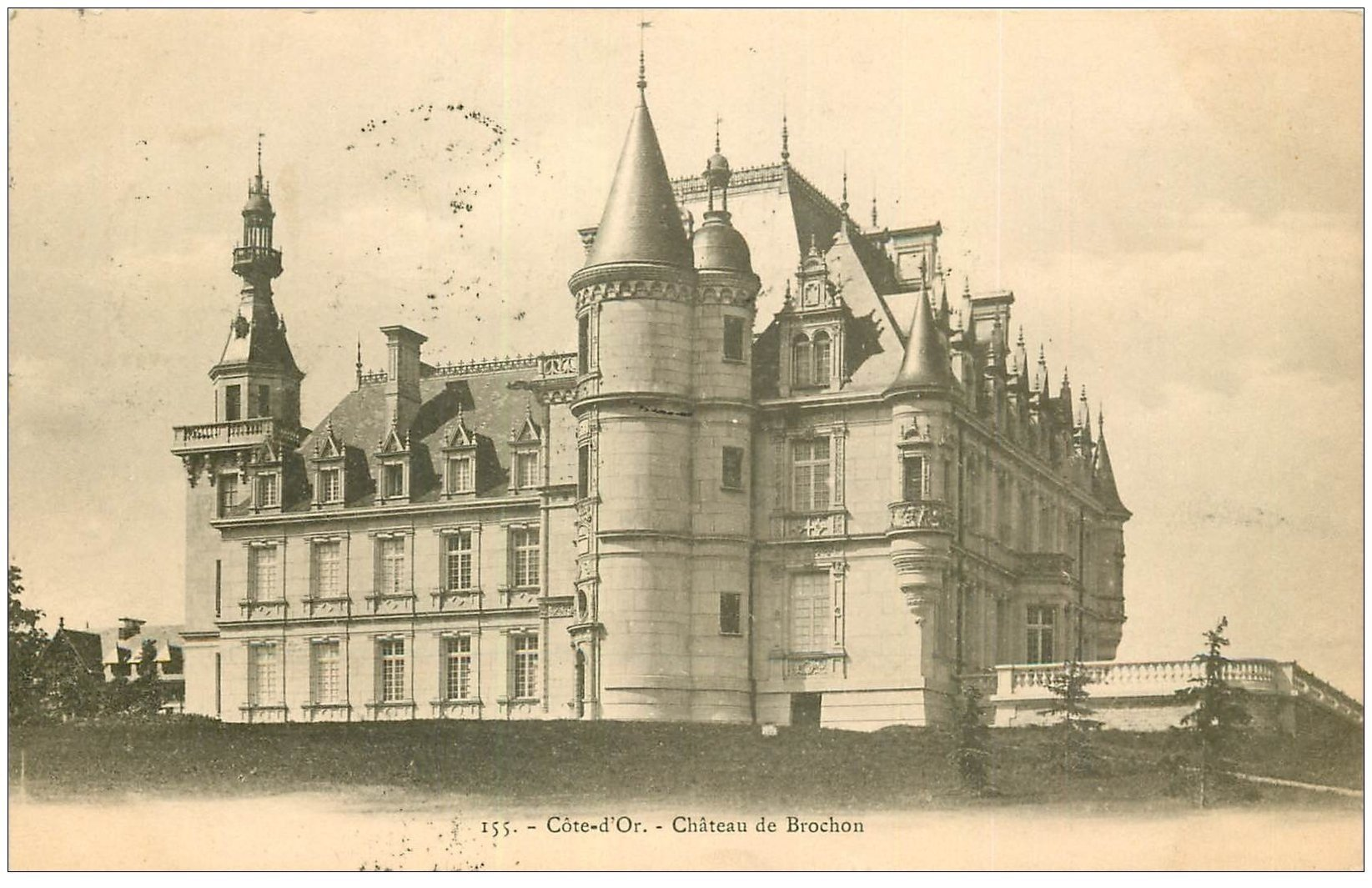 carte postale ancienne 21 CHATEAU DE BROCHON 1903
