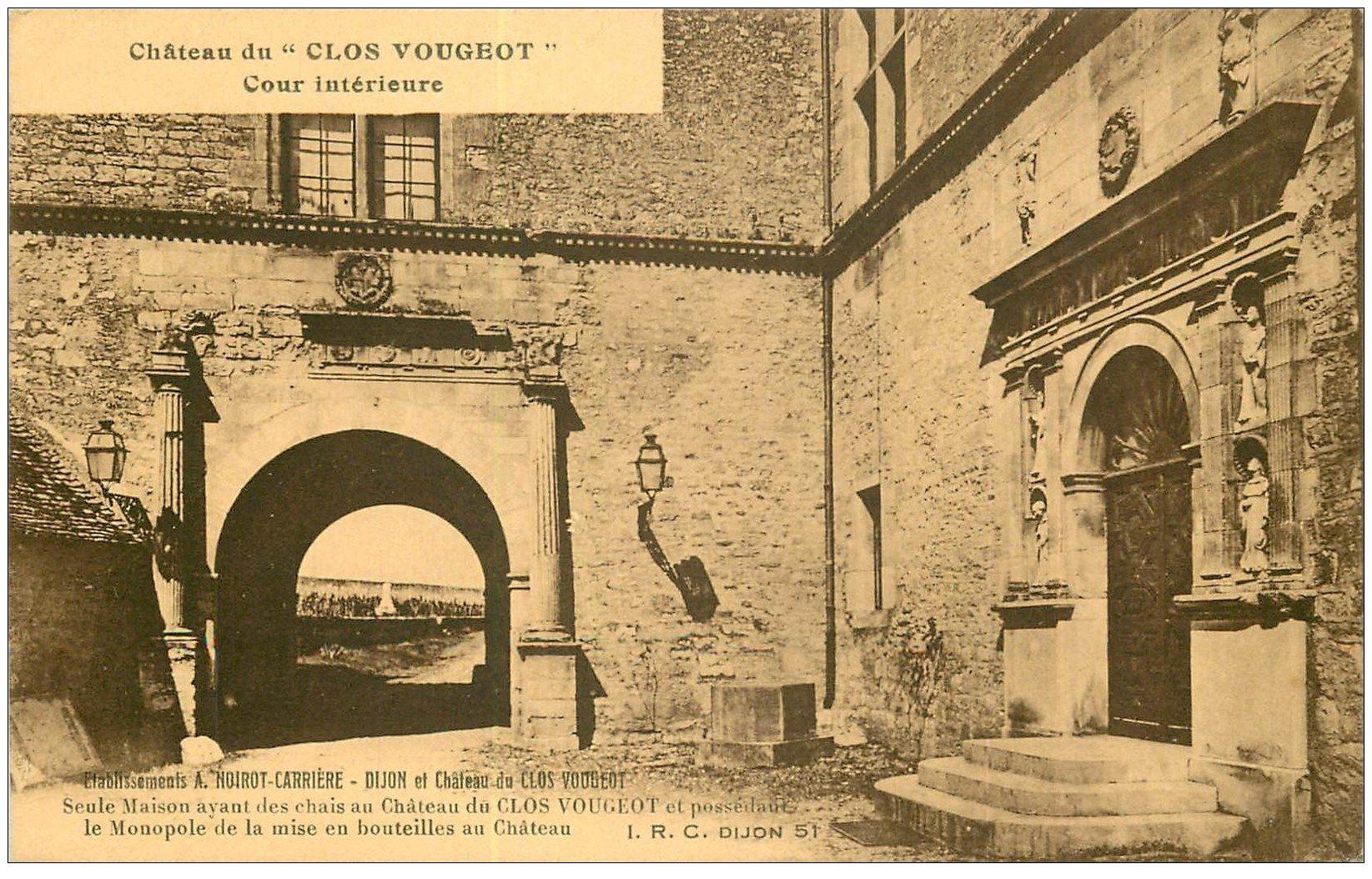 carte postale ancienne 21 CHATEAU DU CLOS VOUGEOT. Cour intérieure