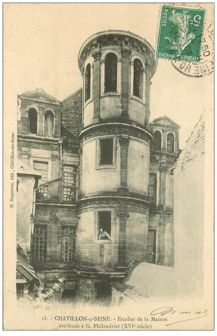 Escalier Dans Maison Ancienne 21 chatillon-sur-seine. escalier maison philandrier 1909