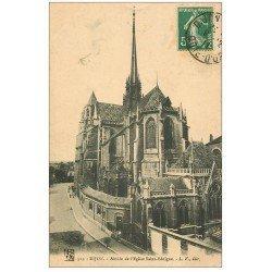 carte postale ancienne 21 DIJON. Abside de l'Eglise Saint-Bénigne 1911