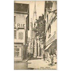carte postale ancienne 21 DIJON. Abside Eglise Notre-Dame. Au Bûcheron ameublement