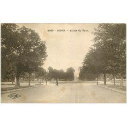 carte postale ancienne 21 DIJON. Allées du Parc 1927