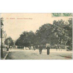 carte postale ancienne 21 DIJON. Avenue Victor-Hugo 1907