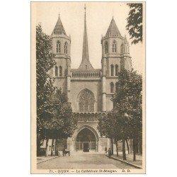 carte postale ancienne 21 DIJON. Cathédrale Saint-Bénigne