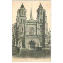 carte postale ancienne 21 DIJON. Cathédrale Saint-Bénigne 1905