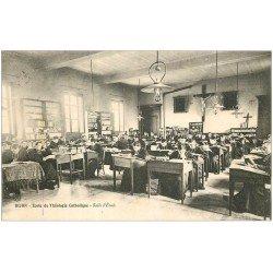 carte postale ancienne 21 DIJON. Ecole de Théologie Catholique. Salle d'Etude 1907