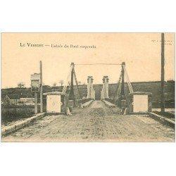 carte postale ancienne 03 LA VEURDRE. Entrée du Pont suspendu