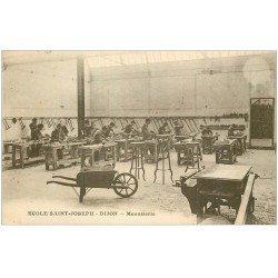 carte postale ancienne 21 DIJON. Ecole Saint-Joseph. Menuiserie