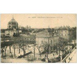 carte postale ancienne 21 DIJON. Ecole Turgot et Eglise Sainte-Anne 1915