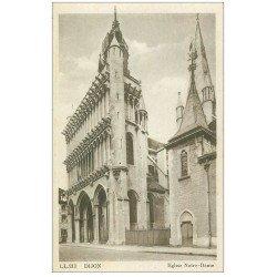 carte postale ancienne 21 DIJON. Eglise Notre-Dame LL 221