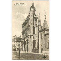 carte postale ancienne 21 DIJON. Eglise Notre-Dame. CLB 3515