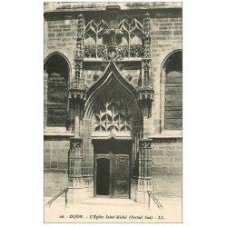 carte postale ancienne 21 DIJON. Eglise Saint-Michel 1945 Portail