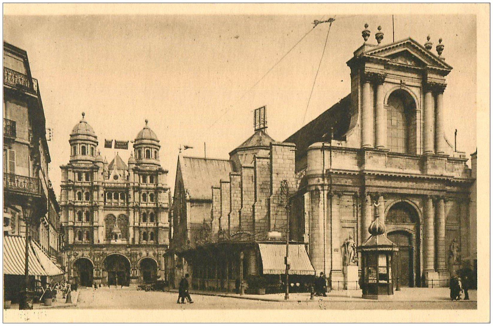 carte postale ancienne 21 DIJON. Eglise Saint-Michel et Bourse du Commerce