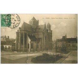 carte postale ancienne 21 DIJON. Eglise Saint-Michel. Abside 1913