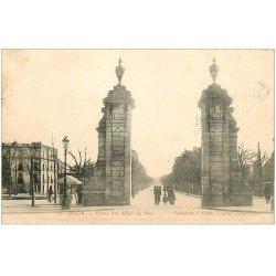 carte postale ancienne 21 DIJON. Entrée des Allées du Parc 1905