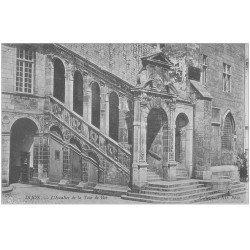 carte postale ancienne 21 DIJON. Escalier de la Tour de Bar