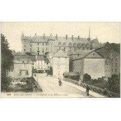 carte postale ancienne 03 LAPALISSE. Le Château et Café Morand