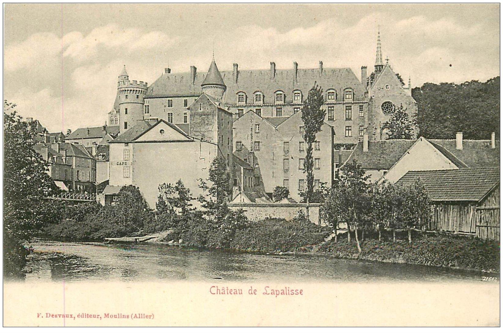carte postale ancienne 03 LAPALISSE. Le Château. Carte pionnière vers 1900 vierge...
