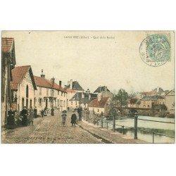 carte postale ancienne 03 LAPALISSE. Quai de la Besbre 1905. Roche entrepreneur