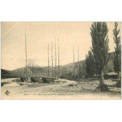 carte postale ancienne 03 LE JOLAN. Pont sur le Jolan. Carte pionnière 1905