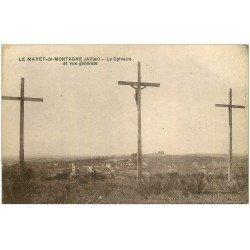 carte postale ancienne 03 LE MAYET-DE-MONTAGNE. Calvaire et Village