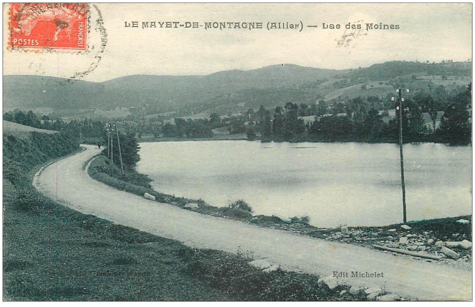 carte postale ancienne 03 LE MAYET-DE-MONTAGNE. Lac des Moines 1927
