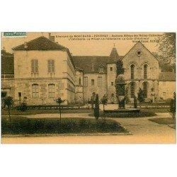21 FONTENAY. Abbaye des Moines Cistériens 1908. Infirmerie Le Prieur Réfectoire Cous d'Honneur. Carte toilée