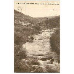 carte postale ancienne 03 LE MAYET-DE-MONTAGNE. Le Barrage Vallée de la Besbre