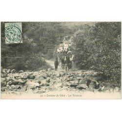 carte postale ancienne 03 LES MALAVAUX. Diligence passage du gué du Jolan 1906